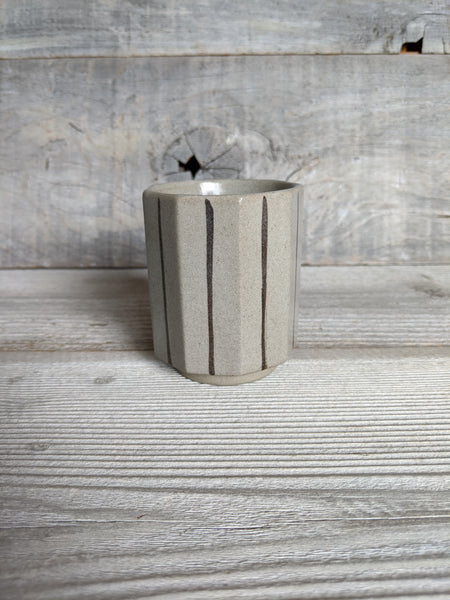 Grey Multi Facet Cup