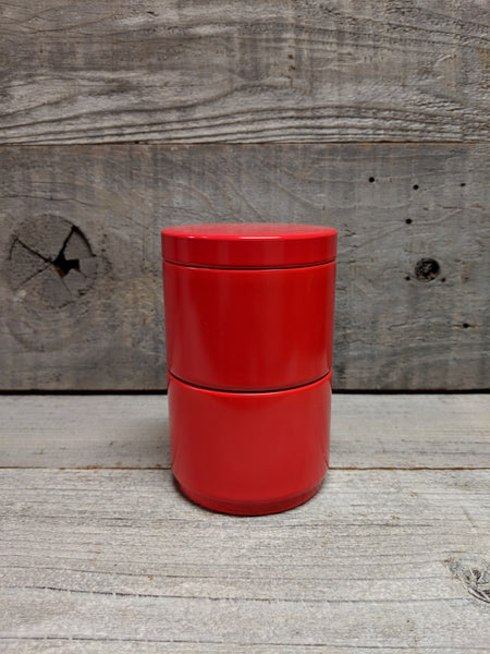 Red 2 Stack Tea Canister