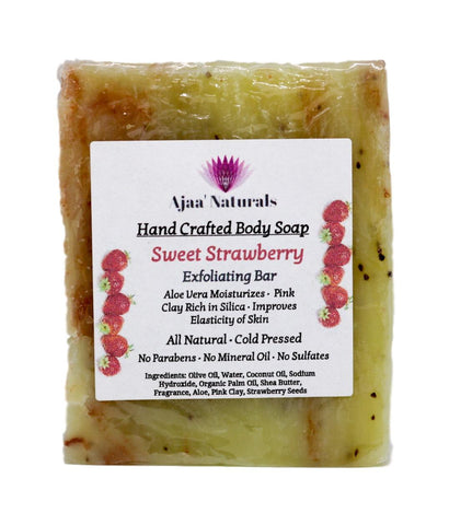 Sweet Strawberry Exfoliating Bar