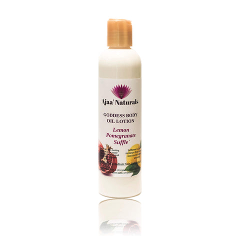 Goddess Body Oil Lotion Lemon Pomegranate Suffle` 8 oz