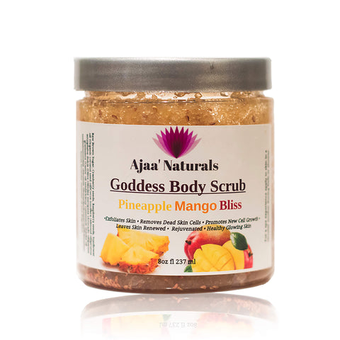 Goddess Body Scrub Pineapple Mango Bliss 8 oz