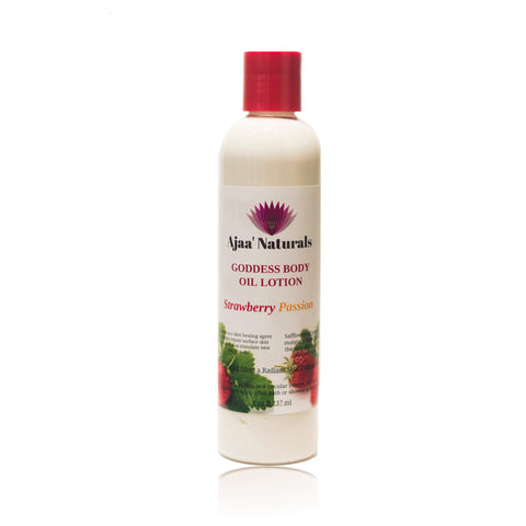 Goddess Body Oil Lotion Strawberry Passion 8 oz