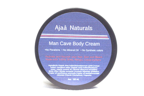 Man Cave Body Cream 4 oz