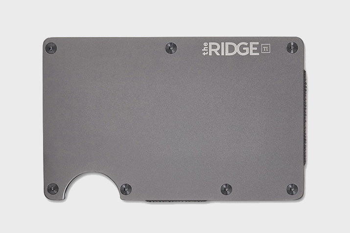 Ridge Titanium Wallet Cash Strap