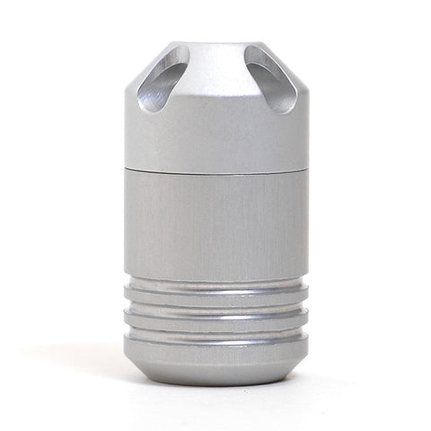Waterproof Storage Capsule Silver