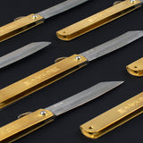 Higonokami Friction Folding Brass Knife