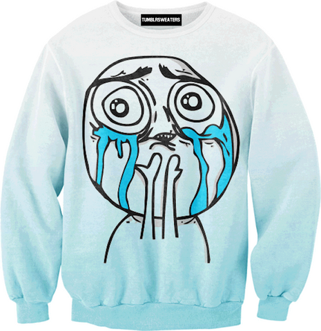 Crying Face Sweater