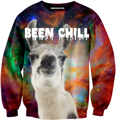 Been Chill Llama Sweater