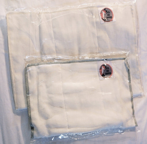 Prefold Diaper Inserts (pack of 10)