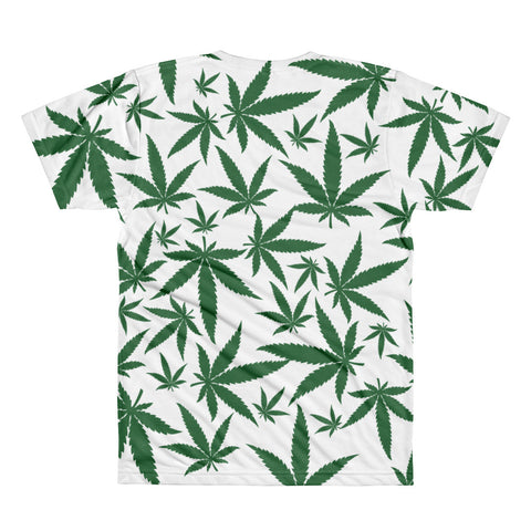 Image of Green Leaf All-Over Printed T-Shirt