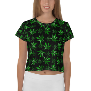 Women's OG Leaf All-Over-Print Crop Tee