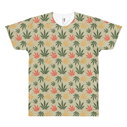 Vintage Rasta All-Over-Print T-Shirt