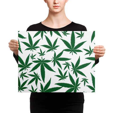 Green Leaf Canvas
