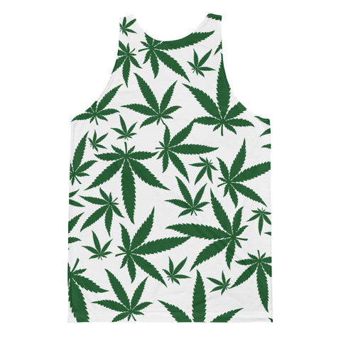 Green Leaf Classic Fit Tank Top