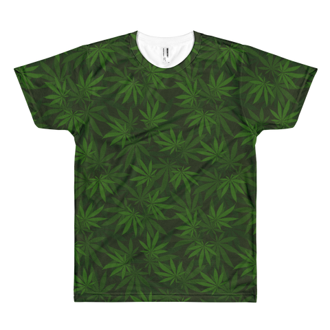 Image of Forest Leafy Greens All-Over-Print T-Shirt