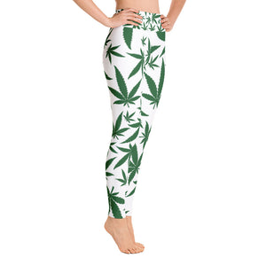 Green Leaf Yoga Leggings