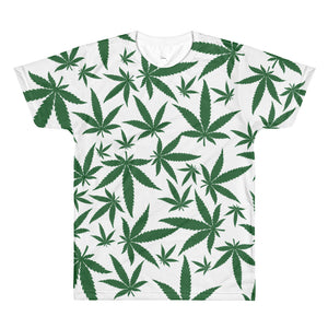 Green Leaf All-Over Printed T-Shirt