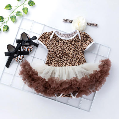 Baby Girl's Zebra Pattern Tulle Dress     4/20/19/5