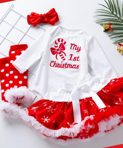 Embroidered  4-piece My 1st Christmas Design