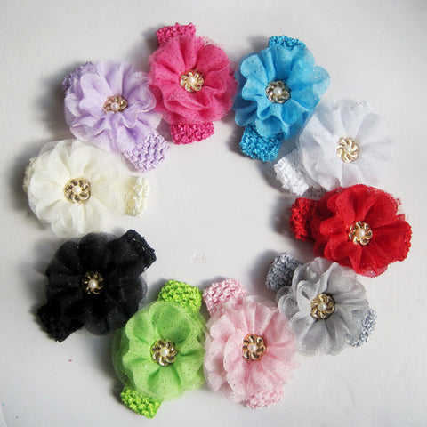New!10PC Baby Flowers Hairband
