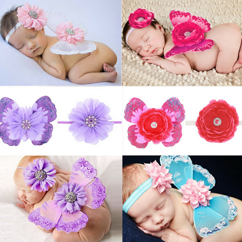 Baby Butterfly Modeling Headband Set
