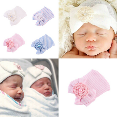 Newborn Baby Flower Shape Hat