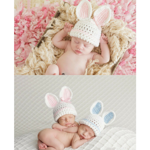 Crocheted Bunny Ears Hat