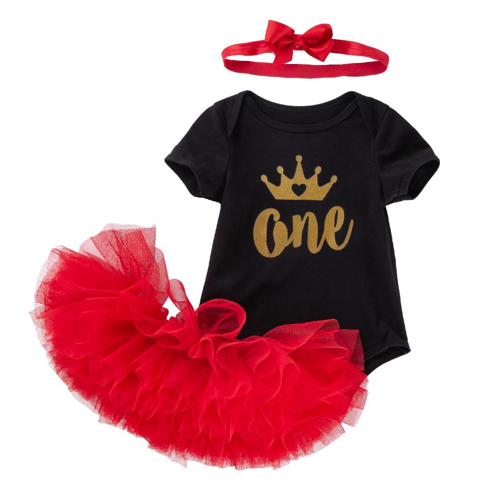 Coral's Design (Red)_Romper & Tutu Suit
