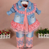 Baby Girl Lace Cowboy Three-Piece