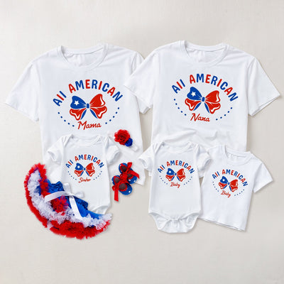 Family Matching T-shirts with Embroidery
