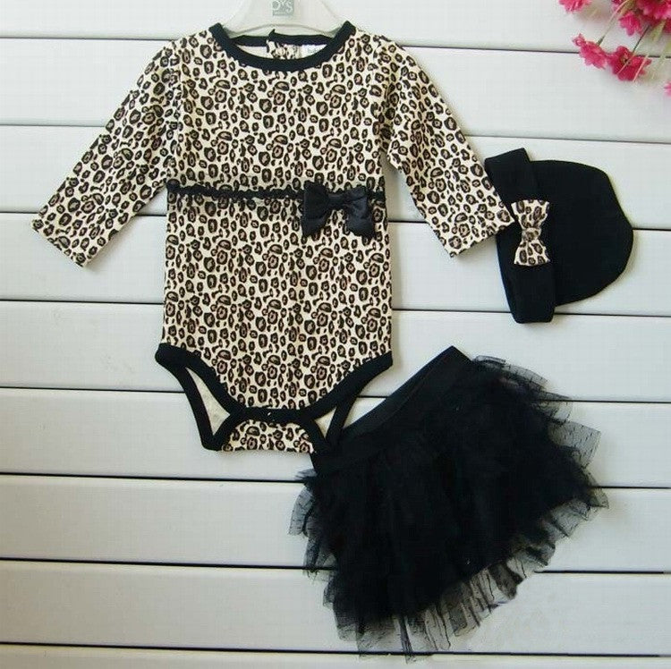 baby Leopard long sleeves three sets