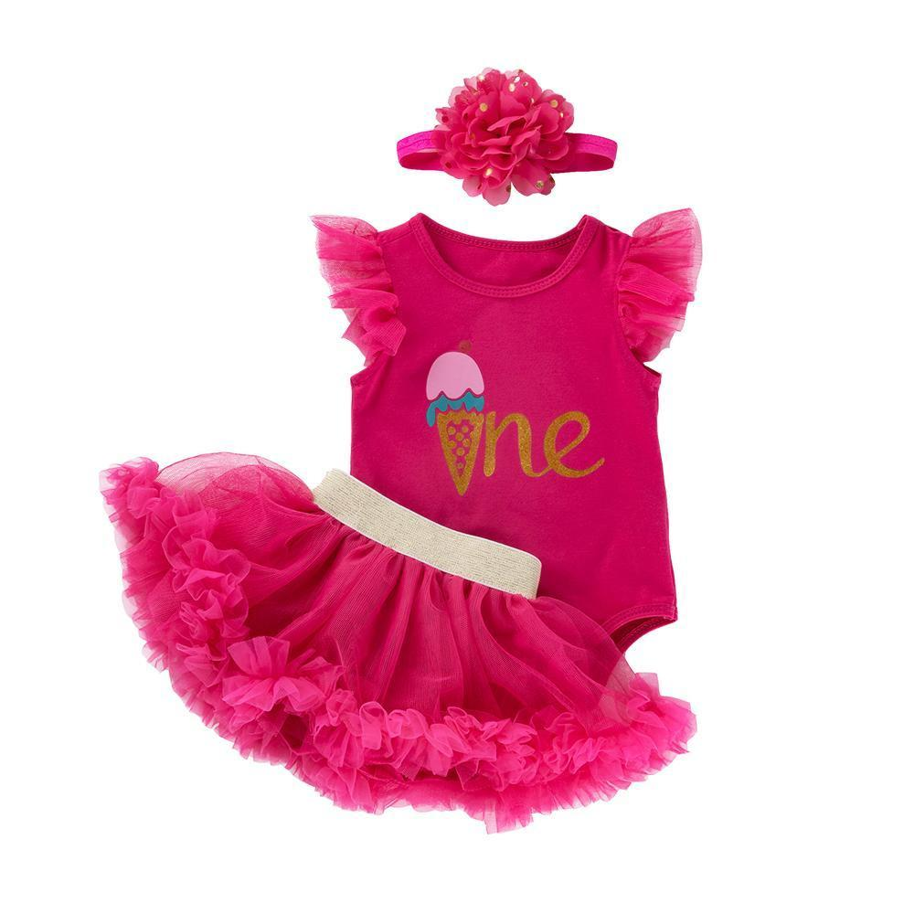 My First Birthday Angel's Design (Rosy)_Romper & Dressy Shorts Suit