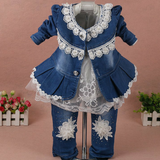 Baby Girl Cowboy Three-Piece Sets