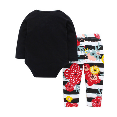 2-piece Toddler Girl Long-sleeve Top and Pant Set