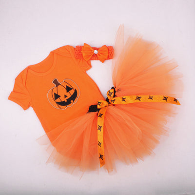 Halloween Onesie, Tutu skirt, and Headband Set
