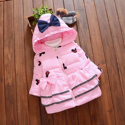 Girl baby Thicker Cotton jacket coat