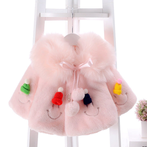 Girl Plush Fur Children's clothing Thicker