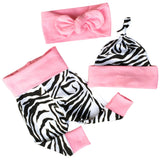 Baby Zebra Short Sleeve+Pants+Hat+Headband Four Sets