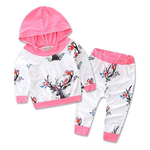 Small deer floral children's suit