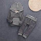 Gray stripes Two sets of children