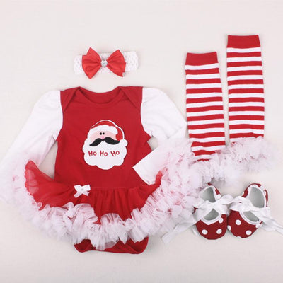 Christmas  Theme Outfit 4-Piece Set