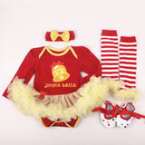 Christmas Themed Outfit 4-Piece Set