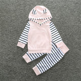 baby Pink stripes Two pieces