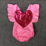 Girl pink bandage love sequins jersey
