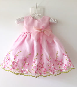 baby embroidered Formal dress