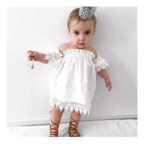 baby  Solid lace dress