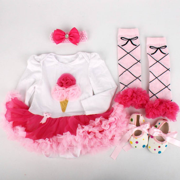 Ice Cream Outfit 4-Piece Set