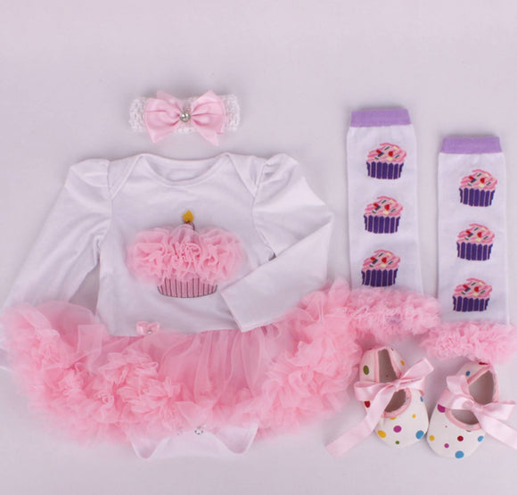 Cupcake Outfit 4-Piece Set Pre-Order