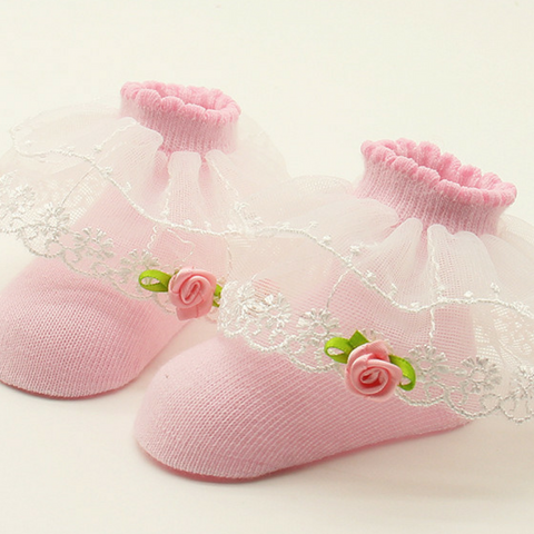 0-1 year old baby Lace socks