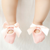 baby 3 pairs of lace bow Floor socks